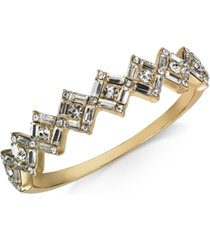 charter club baguette-crystal cluster bangle bracelet, created for macy's