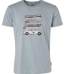 """t-shirt, s/s, r-neck, print """"surfb lt blue"""