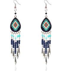 orecchini con ciondoli etnici colorati geometrici bohémien per le donne