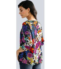 blus alba moda svart::flerfärgad