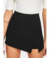 faldas de diseño con aberturas negras yoins