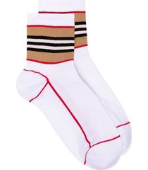 stripe intarsia cotton socks