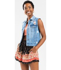 may floral mix print shorts - black