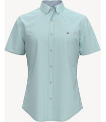 tommy hilfiger men's custom fit essential solid oxford shirt true cornflower - xxl