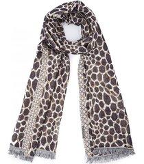 pañuelo giraffe marrón humana