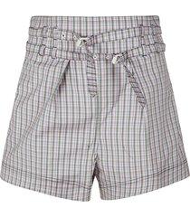 philosophy di lorenzo serafini double-belted check shorts