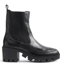 karissa bootie - 9 black leather