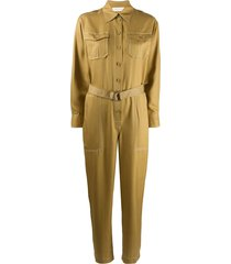 zimmermann silk belted jumpsuit - green