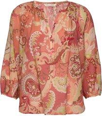 positano blouse blus långärmad rosa odd molly