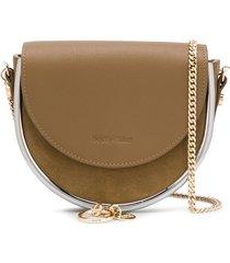 see by chloé charm-detail crossbody bag - green