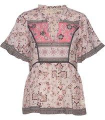 bohemic s/l blouse blouses short-sleeved roze odd molly