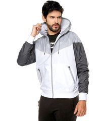 chaqueta gris-blanco nike m nsw he wr jkt