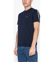 lyle & scott taped t-shirt t-shirts & linnen navy