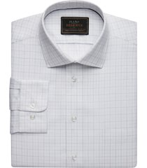 jos. a. bank men's reserve collection tailored fit spread collar broken line check dress shirt clearance, blue, 16 1/2x35