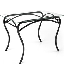 mesa de vidro lion ret preto/vidro - art panta