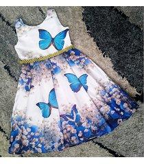 vestido mariposas patatitas i43 azul