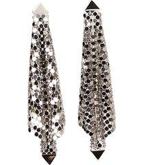 paco rabanne mesh earrings