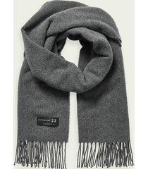 scotch & soda unisex wool-blend fringe scarf