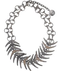 camila klein rabo de peixe short necklace - black