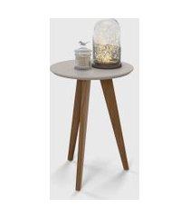mesa lateral liv cinza / eco wood