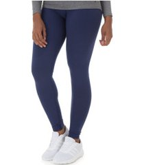 calça legging oxer comfort rosê - feminina - azul escuro