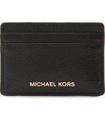 michael michael kors women's jet set card holder - black