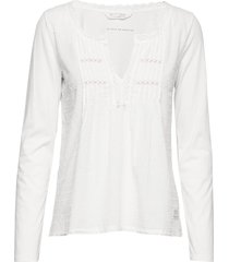 above and beyond top blouse lange mouwen wit odd molly