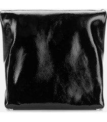 alexander wang women's lunch patent clutch - black