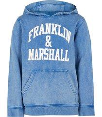 river island boys boyd blue franklin & marshall hoodie