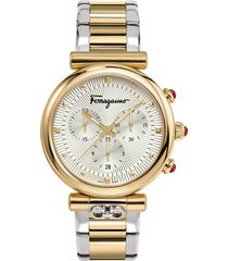salvatore ferragamo ora chronograph bracelet watch, 40mm