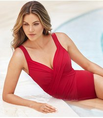 revele rock solid firm control one-piece swimsuit