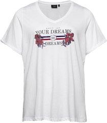 t-shirt print plus short sleeves t-shirts & tops short-sleeved vit zizzi