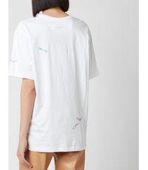 coach women's hand drawn coach t-shirt - optic white - l