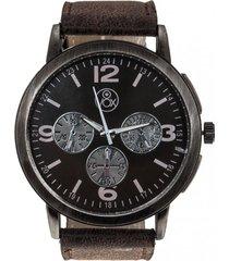 reloj casual analogo negro vox