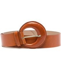 b-low the belt round-buckle leather belt - brown