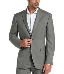 perry ellis premium gray slim fit tech suit
