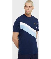 lyle & scott archive panel t-shirt t-shirts & linnen navy