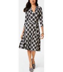 charter club plaid v-neck dress, created for macy's