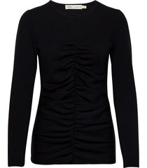 camlyiw blouse t-shirts & tops long-sleeved zwart inwear