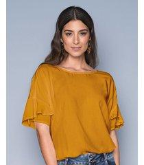 exterior camisa amarillo leonisa f5713