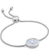 sterling silver atlantis evil eye friendship chain bracelet blue lace agate