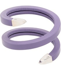 bottega veneta leather cuff bracelet - purple