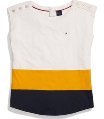 tommy hilfiger adaptive women's coco top with magnetic closure