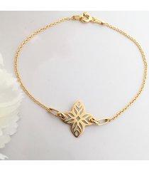 bransoletka z kwiatem, geometryczny wzór