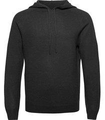 nakkne hoodie trui zwart tiger of sweden