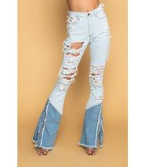 akira hannah high rise flare jeans