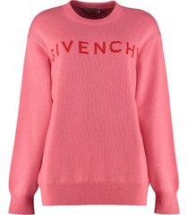 givenchy crew-neck cashmere sweater