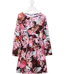 molo floral-print skater dress - pink