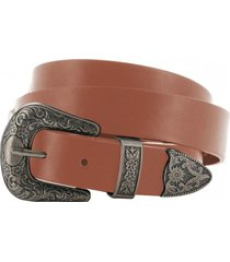 cinturon mujer double buckle belt marrón cat