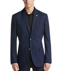 ben sherman blue check extreme slim fit sport coat